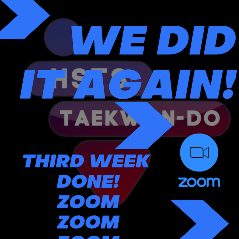 , Weekly update, HSTS Taekwon-Do - Martial Arts Club